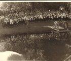 Salaspils Dziedāšanas biedrības 100 gadu jubilejas koncerts. Salaspils Botāniskajā dārzā, 1979.g. 1.sept. (No I.Vagules fotokolekcijas)